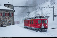47 RhB - Rhätische Bahn ABe 4/4 at Alp Grüm, Switzerland by Georg Trüb