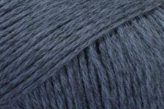 Drops Bomull-Lin - Dark Blue (21) - 50g - Yarn - Wool Warehouse