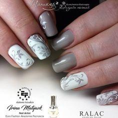 Check it out. Elegant Nail Designs, Short Nail Designs, Elegant Nails, Nail Art Designs, Hot Nails, Hair And Nails, Beauty Nail, Nail Art Techniques, Luxury Nails