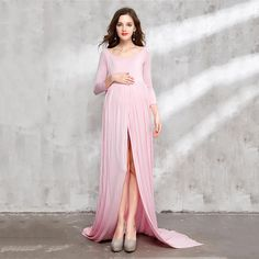 e15465fa720 Bear Leader Maternity Dress New Spring Maternity Photography Props Solid  High Split Design
