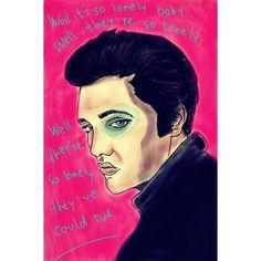 """Con un poco de you make me so lonely baby, muy solo, y un poco de I get so lonely I could die, I could die, Elvis Presley el rey del rock and roll, The king, El rey, cambia la historia del mundo musical con el lanzamiento de, """"heartbreak hotel"""", And although it's always crowded, you still can find some room Where broken hearted lovers do cry away their gloom… uno de sus  primeros sencillos,  en convertirse en un gran Hit, es tan famoso que ingresó al salón de la fama de los Premio Grammy en…"""