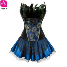 Want skull tops, hoodies, leggings and more AIZEN corset dres... add to any wardrobe http://rebelstreetclothing.com/products/aizen-corset-dress-halloween-feathers-burlesque-gothic-vintage-style-overbust-corset-bustier-skirt-steampunk-corselet-sexy-women?utm_campaign=social_autopilot&utm_source=pin&utm_medium=pin