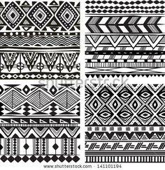 Seamless tribal texture vector - by on VectorStock® - tattttaarrooosss! - Seamless tribal texture vector – by on VectorStock® - African Tribal Tattoos, African Tribal Patterns, Tattoo Tribal, Ethnic Patterns, African Art, Geometric Tribal Tattoo, Tribal Henna, Ethnic Tattoo, Tattoo Indian