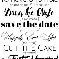 free wedding fonts {personal use only}
