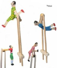I loved these old wooden acrobat toys as a kid. by minnie