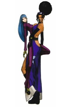 Kula Diamond & Diana from The King of Fighters 2001