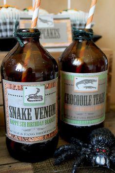 Science & Nature 12 Bottles Lizard Slime Lizard In Bottle In Colorful Liquid Gag Gift Carnival Low Price