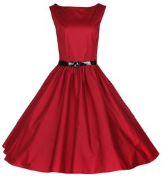 Lindy Bop Classy Vintage Audrey Hepburn Style 1950's Rockabilly Swing Evening Dress at Amazon Women's Clothing store: Lindy Bop Red