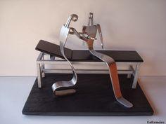 Enfermeiro feito com garfos.   Visite o meu BLOG: saulrogerioartesanato.blogspot.pt