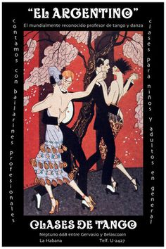 2322 The Argentinean Tango and Dance Classes Vintage Poster Decorative Art | eBay