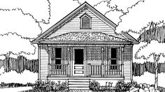 Eplans Country House Plan - Two Bedroom Country - 704 Square Feet and 2 Bedrooms from Eplans - House Plan Code HWEPL72757