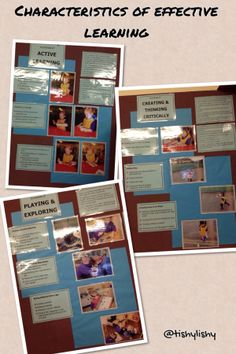 Display photos,work, speech bubble comments showing children demonstrating the characteristics of learning Reggio Classroom, Classroom Organisation, Classroom Displays, Classroom Setup, Eyfs Activities, Nursery Activities, Learning Activities, Teaching Strategies, Characteristics Of Learning Display