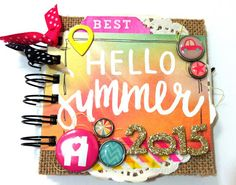 Mad Scrap Project: julio 2015 Simple Stories, My Works, Summer Vibes, Deco, Mad, Blog, Scrapbook, Photo And Video, Minis