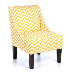 Found it at AllModern - Skyline Furniture Swoop Armchair - Color: Yellow Slubhttp://www.allmodern.com/Skyline-Furniture-Swoop-Armchair-72-1ZGZG-SKY4171.html?refid=SBP ($340)