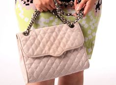 This quilted leather Rebecca Minkoff bag reminds Oksana of a traditional Chanel bag. It's from Nordstrom ($300). (Allison Carey/The Plain Dealer)