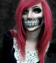 Image from http://cdn2.thegloss.com/wp-content/uploads/2014/09/Skeleton-Mouth-Halloween-Makeup.jpg.