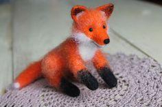 Needle felted Fox Needle Felted Animals Fox Gift fox Felt