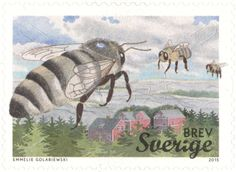 "Sweden Domestic Mail ""Honey Bees"" 2015"