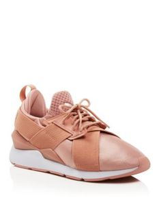 PUMA Women's Muse Satin Lace Up Sneakers | bloomingdales.com