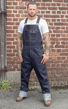mens jeans at the buckle Carhartt Work Pants, Mens Work Pants, T-shirt Und Jeans, Cuffed Jeans, Men's Dungarees, Denim Overalls, Rockabilly Men, Rockabilly Fashion, Overalls Fashion