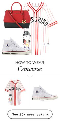 """"""""""" by kimah101 on Polyvore featuring Moschino, Michael Kors and Converse"""