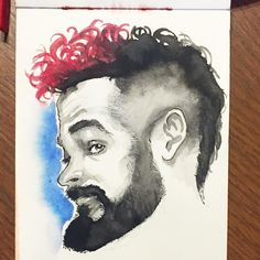 #watercolor selfie no. 7. Over worked the last one so I went more minimal with this one.  #painting #portrait #selfportrait #selfie  #art #ink #illustration #drawing #draw #Artofant #artist #sketch #sketchbook #instaart #beautiful #gallery #creative #artoftheday