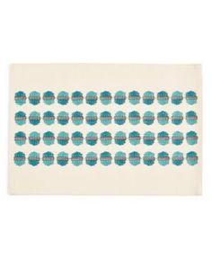 Homewear Cosgrove Teal Cotton Placemat - Blue