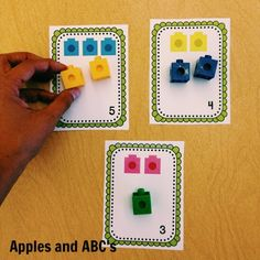 Linking Cubes Math Centers - Apples and ABC's