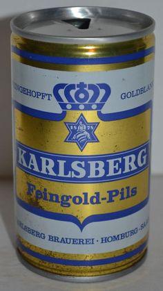 Karlsberg Feingold-Pils Vintage Steel Beer Can Pull Tab German 0.33 L  #KarlsbergFeingoldPils