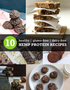 10 Healthy Hemp Protein Recipes (Vegan, Gluten-Free, Paleo) #veganrecipes #cleaneating