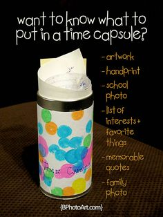 Make a Yearly Time Capsule with the Kids for New Years
