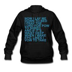 Snowboarders prayer hoodie