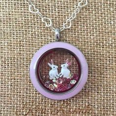 Bunny #Rabbit Lovers #Locket from Origami Owl. All charms $5! I invite you to host an online party to earn yours discounted or even #FREE! Www.krystallanclos.origamiowl.com