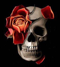 skeleton watches for men red Skull Rose Tattoos, Skull Girl Tattoo, 4 Tattoo, Skull Tattoo Design, Flower Tattoos, Tattoo Designs, Bird Tattoos, Skull Artwork, Skull Painting