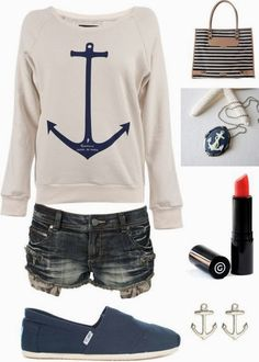 See more Amazing anchor sign sweater, skirt and cosmetics for summer