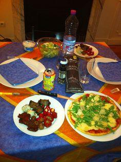 La Dolce Vita : antipasti / Pizza ( le tout préparé par mes soins )