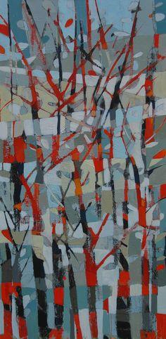 snow fields-abstract landscape by Alison Watt