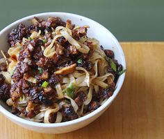 Sub out those egg noodles for a vegan fettuccine and enjoy!      Recipe: Noodles with Hot Bean Sauce | Appetite for China