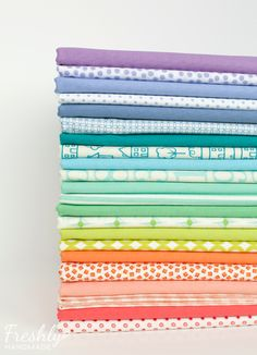 pastel lattice quilt: I started with one main color on a white or cream background in colors that were more me. From there, I matched each print with a solid that coordinated.