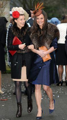 Pippa Middleton & friend at Northern Ireland wedding, 8 Dec 2012