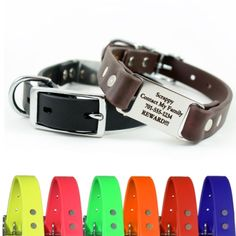 Soft Grip ScruffTag Dog Collars - Waterproof - Stink Proof - No Jingling Tags - ID Tag always on the back of your dog's neck for easy identification! $29