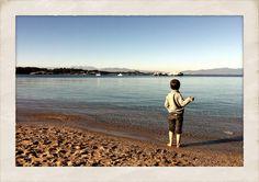 En Sergi a la platja de l'Escala