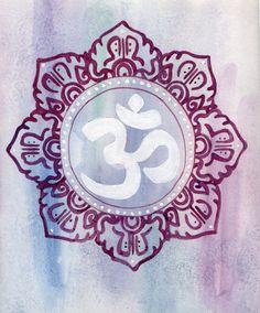 Om Mandala Watercolor Painting