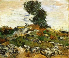 Rocks with Oak Tree by Vincent van Gogh