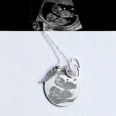 If only I had an ultrasound from my miscarriage. :( Ultrasound Memorial Necklace from the Designed To Shine Mother's Day collection. For those of us that were never able to hold our baby(ies). My Baby Girl, Our Baby, Baby Love, Baby Bug, Infant Loss Awareness, Pregnancy And Infant Loss, Stillborn, Making Love, Sympathy Gifts
