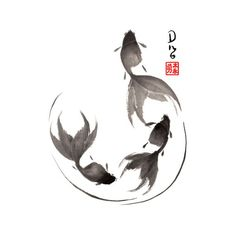 Discover recipes, home ideas, style inspiration and other ideas to try. Japanese Ink Painting, Sumi E Painting, Japanese Watercolor, Chinese Painting, Chinese Art, Japanese Art, Painting Prints, Watercolor Paintings, Canvas Prints
