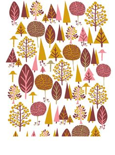Scandinavian Trees   Rachael Schafer Designs