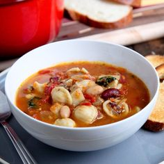 Hearty Minestrone Soup.. This is a soup to have on a chilly night. Or if you want something for dinner that is not a lot but will fill you up. Recipe can be found on my blog