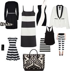 """Black and White"" by julieinzanti on Polyvore"