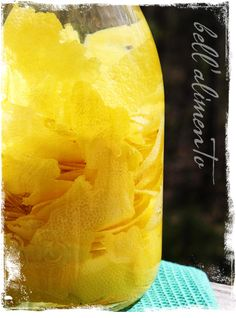 1 liter pure grain alcohol (Everclear)   10 organic lemons - peeled   3 cups sugar   4.5 cups water
